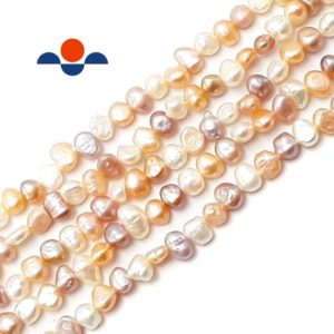 """Shop Freshwater Pearls! Multi Fresh Water Pearl Center Drill Nugget Beads 4mm 6mm 8mm 10mm 14"""" Strand 