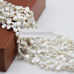Shop Pearl Bead Shapes! Irregular Reborn Pearl Beads, 6-8mm Freedom Loose Pearls for DIY Necklace Bracelet Jewelry Making | Natural genuine other-shape Pearl beads for beading and jewelry making.  #jewelry #beads #beadedjewelry #diyjewelry #jewelrymaking #beadstore #beading #affiliate #ad