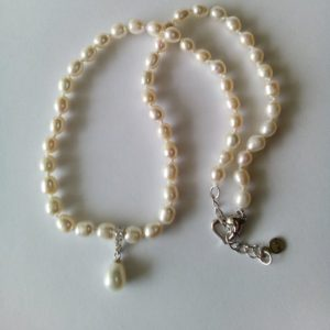 Shop Pearl Pendants! cultured white pearl necklace adjustable length 17 to 19 inches teardrop pendant pearl strand jewelry wedding bride pearl necklace | Natural genuine Pearl pendants. Buy handcrafted artisan wedding jewelry.  Unique handmade bridal jewelry gift ideas. #jewelry #beadedpendants #gift #crystaljewelry #shopping #handmadejewelry #wedding #bridal #pendants #affiliate #ad
