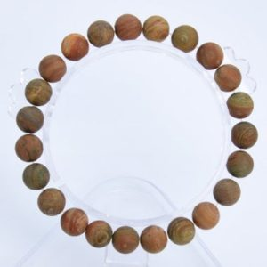 "Shop Petrified Wood Jewelry! 8MM Matte Petrified Wood Jasper Beads Bracelet Grade AAA Genuine Natural Round Gemstone 7"" BULK LOT 1,3,5,10 and 50 (106771h-073) 