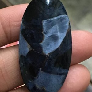 Shop Pietersite Beads! Pietersite cabochan oval shape flat back cabochan,pietersite stone,20/37mm | Natural genuine other-shape Pietersite beads for beading and jewelry making.  #jewelry #beads #beadedjewelry #diyjewelry #jewelrymaking #beadstore #beading #affiliate #ad