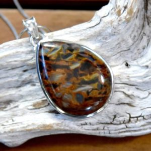 Shop Pietersite Pendants! Silver Pietersite Pendant | Natural genuine Pietersite pendants. Buy crystal jewelry, handmade handcrafted artisan jewelry for women.  Unique handmade gift ideas. #jewelry #beadedpendants #beadedjewelry #gift #shopping #handmadejewelry #fashion #style #product #pendants #affiliate #ad