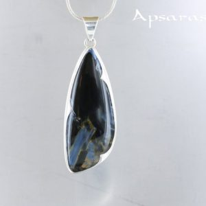 Shop Pietersite Pendants! Pietersite silver Pendant. Natural stone. Tempest stone. Stone pendant for men and women. Pietersite jewelry. Quality made by ApsarasV | Natural genuine Pietersite pendants. Buy handcrafted artisan men's jewelry, gifts for men.  Unique handmade mens fashion accessories. #jewelry #beadedpendants #beadedjewelry #shopping #gift #handmadejewelry #pendants #affiliate #ad