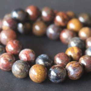 Natural Pietersite Smooth and Round Beads,6mm/8mm/10mm/12mm Gemstone Beads Bulk Supply,15 inches one starand | Natural genuine round Pietersite beads for beading and jewelry making.  #jewelry #beads #beadedjewelry #diyjewelry #jewelrymaking #beadstore #beading #affiliate #ad