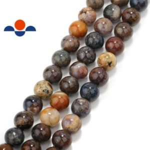 "Natural Pietersite Smooth Round Beads 6mm 8mm 10mm 15.5"" Strand 