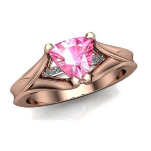 """Pink Sapphire Engagement Ring 