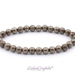 Shop Pyrite Bracelets! 6mm Pyrite Bracelet, Pyrite Bracelets, Pyrite Bead Bracelets 6 Mm, Pyrite Beaded Bracelet, Pyrite Healing Crystal, Ladiescrystals, Gift | Natural genuine Pyrite bracelets. Buy crystal jewelry, handmade handcrafted artisan jewelry for women.  Unique handmade gift ideas. #jewelry #beadedbracelets #beadedjewelry #gift #shopping #handmadejewelry #fashion #style #product #bracelets #affiliate #ad