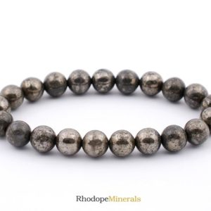 Shop Pyrite Bracelets! 8mm Pyrite Bracelet, Pyrite Bracelets 8 mm, Pyrite Bracelets, Pyrite Bead Bracelet, Pyrite Crystals, Gift For Her Pyrite Crystals | Natural genuine Pyrite bracelets. Buy crystal jewelry, handmade handcrafted artisan jewelry for women.  Unique handmade gift ideas. #jewelry #beadedbracelets #beadedjewelry #gift #shopping #handmadejewelry #fashion #style #product #bracelets #affiliate #ad