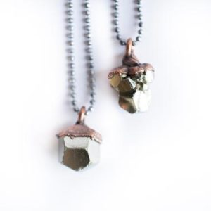 Shop Pyrite Necklaces! Raw pyrite necklace | Pyrite necklace | Electroformed necklace | Fool's gold necklace | Fool's gold jewelry | Natural genuine Pyrite necklaces. Buy crystal jewelry, handmade handcrafted artisan jewelry for women.  Unique handmade gift ideas. #jewelry #beadednecklaces #beadedjewelry #gift #shopping #handmadejewelry #fashion #style #product #necklaces #affiliate #ad