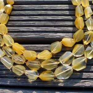 Shop Quartz Crystal Faceted Beads! Yellow Hematoid Quartz 14-20mm faceted beads (ETB00709) | Natural genuine faceted Quartz beads for beading and jewelry making.  #jewelry #beads #beadedjewelry #diyjewelry #jewelrymaking #beadstore #beading #affiliate #ad