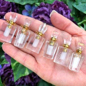 Shop Quartz Crystal Necklaces! One Small Clear Quartz Essential Oil Bottle Necklace- Quartz Crystals- Crown Chakra – Crystal Essential Oil Bottles | Natural genuine Quartz necklaces. Buy crystal jewelry, handmade handcrafted artisan jewelry for women.  Unique handmade gift ideas. #jewelry #beadednecklaces #beadedjewelry #gift #shopping #handmadejewelry #fashion #style #product #necklaces #affiliate #ad