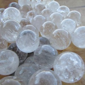 Quartz Sphere 18 mm L14 | Natural genuine stones & crystals in various shapes & sizes. Buy raw cut, tumbled, or polished gemstones for making jewelry or crystal healing energy vibration raising reiki stones. #crystals #gemstones #crystalhealing #crystalsandgemstones #energyhealing #affiliate #ad