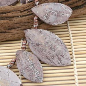 Shop Rainforest Jasper Beads! Matte Sonoran Dendrite Rhyolite freeform beads (ETB01058) Unique jewelry/Vintage jewelry/Gemstone necklace | Natural genuine other-shape Rainforest Jasper beads for beading and jewelry making.  #jewelry #beads #beadedjewelry #diyjewelry #jewelrymaking #beadstore #beading #affiliate #ad
