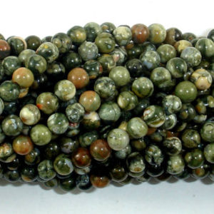 Shop Rainforest Jasper Beads! Rhyolite Beads, 4mm(4.6mm) Round Beads, 15.5 Inch, Full Strand, Approx 88 Beads, Hole 0.8mm, A Quality (387054013) | Natural genuine round Rainforest Jasper beads for beading and jewelry making.  #jewelry #beads #beadedjewelry #diyjewelry #jewelrymaking #beadstore #beading #affiliate #ad