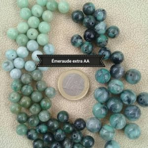 Shop Emerald Beads! rare lot of emerald beads extra AA AAA quality, round smooth 8mm 9mm and 11mm real semi precious natural stone bead | Natural genuine beads Emerald beads for beading and jewelry making.  #jewelry #beads #beadedjewelry #diyjewelry #jewelrymaking #beadstore #beading #affiliate #ad