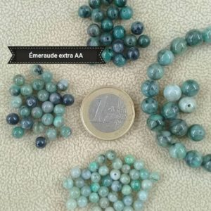 Shop Emerald Round Beads! Rare Lot Of Emerald Pearls Extra Aa Quality, Smooth Round Bead In Real Semi Precious Natural Stone 4mm 5mm 6mm 7mm | Natural genuine round Emerald beads for beading and jewelry making.  #jewelry #beads #beadedjewelry #diyjewelry #jewelrymaking #beadstore #beading #affiliate #ad