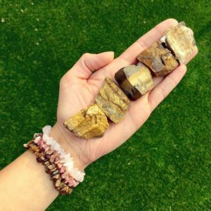 Shop Tiger Eye Stones & Crystals! Raw Tigers Eye Crystal Gift Set – Crystal Healing -Unique Gift | Natural genuine stones & crystals in various shapes & sizes. Buy raw cut, tumbled, or polished gemstones for making jewelry or crystal healing energy vibration raising reiki stones. #crystals #gemstones #crystalhealing #crystalsandgemstones #energyhealing #affiliate #ad