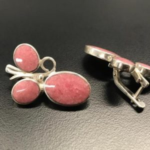 Shop Rhodochrosite Earrings! Rhodochrosite Earrings, Natural Rhodochrosite, Vintage Earrings, Raspberry Earrings, Statement Earrings, Pink Earrings, 925 Silver Earrings | Natural genuine Rhodochrosite earrings. Buy crystal jewelry, handmade handcrafted artisan jewelry for women.  Unique handmade gift ideas. #jewelry #beadedearrings #beadedjewelry #gift #shopping #handmadejewelry #fashion #style #product #earrings #affiliate #ad