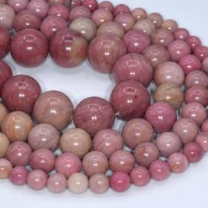 Genuine Natural Haitian Flower Rhodonite Loose Beads Round Shape 6-7mm 8mm 10mm 12mm 16mm | Natural genuine round Rhodonite beads for beading and jewelry making.  #jewelry #beads #beadedjewelry #diyjewelry #jewelrymaking #beadstore #beading #affiliate #ad