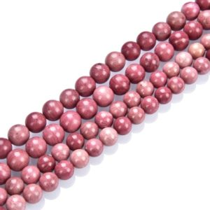 Shop Rhodonite Round Beads! U Pick Natural Grade A Pink Rhodonite Gemstone 4mm 6mm 8mm 10mm Round Loose Beads 15 inch Per Strand for Jewelry Craft Making GF34 | Natural genuine round Rhodonite beads for beading and jewelry making.  #jewelry #beads #beadedjewelry #diyjewelry #jewelrymaking #beadstore #beading #affiliate #ad
