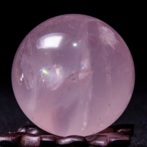 "Shop Rose Quartz Shapes! 1.96""Clear Rainbow Rose Quartz Polished Sphere/Pink Crystal Ball/Rose Crystal/Love Stone/Meditation/Chakra/Reiki/Lucky Stone-49mm-160g#4998 