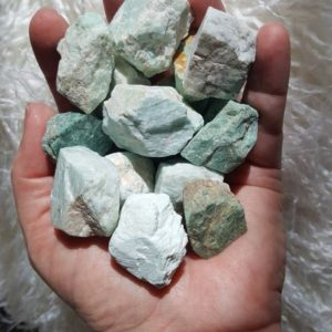 Shop Raw & Rough Amazonite Stones! Rough Amazonite- Raw Amazonite chunk- 4 pieces of Amazonite | Natural genuine stones & crystals in various shapes & sizes. Buy raw cut, tumbled, or polished gemstones for making jewelry or crystal healing energy vibration raising reiki stones. #crystals #gemstones #crystalhealing #crystalsandgemstones #energyhealing #affiliate #ad