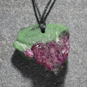 Shop Ruby Zoisite Necklaces! RUBY in ZOISITE Crystal Pendant , With Pargasite , Anyolite Raw Specimen Pendant, Natural Mineral Healing and Meditation Stone | Natural genuine Ruby Zoisite necklaces. Buy crystal jewelry, handmade handcrafted artisan jewelry for women.  Unique handmade gift ideas. #jewelry #beadednecklaces #beadedjewelry #gift #shopping #handmadejewelry #fashion #style #product #necklaces #affiliate #ad