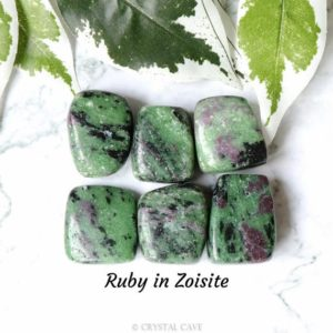 Shop Ruby Zoisite Stones & Crystals! Ruby in Zoisite Crystal – Tumbled Stone – Polished Stone – Gemstone / For Willpower • Transformation • Spirituality / Zodiac Aries Aquarius | Natural genuine stones & crystals in various shapes & sizes. Buy raw cut, tumbled, or polished gemstones for making jewelry or crystal healing energy vibration raising reiki stones. #crystals #gemstones #crystalhealing #crystalsandgemstones #energyhealing #affiliate #ad