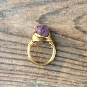 Shop Ruby Rings! Raw Ruby ring, July birthstone, 14k gold filled  or Sterling Silver | Natural genuine Ruby rings, simple unique handcrafted gemstone rings. #rings #jewelry #shopping #gift #handmade #fashion #style #affiliate #ad