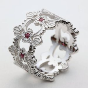 Shop Ruby Rings! Ruby Wedding Band, Ruby Wedding Ring, White Gold Ruby Ring, Gold Ruby Ring, Red Ruby Ring, Unique Wedding Band, Ruby Engagement Ring, Ruby | Natural genuine Ruby rings, simple unique alternative gemstone engagement rings. #rings #jewelry #bridal #wedding #jewelryaccessories #engagementrings #weddingideas #affiliate #ad