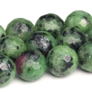 Shop Ruby Zoisite Faceted Beads! Ruby Zoisite Beads Grade AA Genuine Natural Gemstone Micro Faceted Round Loose Beads 6/8/10/12MM Bulk Lot Options | Natural genuine faceted Ruby Zoisite beads for beading and jewelry making.  #jewelry #beads #beadedjewelry #diyjewelry #jewelrymaking #beadstore #beading #affiliate #ad
