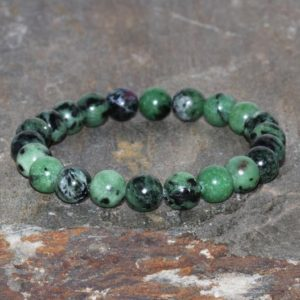Shop Ruby Zoisite Bracelets! 8mm Natural Ruby Zoisite Bracelet, Handmade Anyolite, Beaded Gemstone Bracelet, Red Ruby In Green Zoisite Bracelet, Stacking Bracelet | Natural genuine Ruby Zoisite bracelets. Buy crystal jewelry, handmade handcrafted artisan jewelry for women.  Unique handmade gift ideas. #jewelry #beadedbracelets #beadedjewelry #gift #shopping #handmadejewelry #fashion #style #product #bracelets #affiliate #ad
