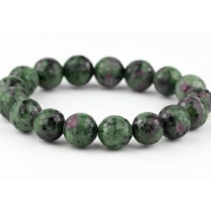 Ruby Zoisite Bracelet / Fuchsite Bracelet / Anyolite Bracelet / Purple Yoga Bracelet / Ruby Stone Bracelet | Natural genuine Ruby Zoisite bracelets. Buy crystal jewelry, handmade handcrafted artisan jewelry for women.  Unique handmade gift ideas. #jewelry #beadedbracelets #beadedjewelry #gift #shopping #handmadejewelry #fashion #style #product #bracelets #affiliate #ad