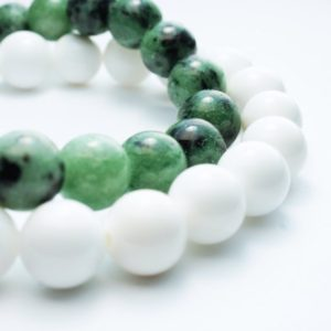 Ruby Zoisite Bracelet Natural Stone Bracelet . Green Natural Stone Bracelet | Natural genuine Ruby Zoisite bracelets. Buy crystal jewelry, handmade handcrafted artisan jewelry for women.  Unique handmade gift ideas. #jewelry #beadedbracelets #beadedjewelry #gift #shopping #handmadejewelry #fashion #style #product #bracelets #affiliate #ad