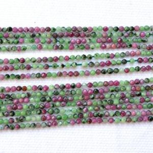 "Shop Ruby Zoisite Rondelle Beads! Ruby Zoisite Faceted Rondelle, Gemstone Beads, 2.2mm Zoisite Faceted Gemstone Beads, Center Drilled Beads, 13"" Strand #PP2396 