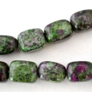 Shop Ruby Zoisite Chip & Nugget Beads! Ruby Zoisite Gemstone Beads 17x12mm, Stone Ruby Zoisite Stone Beads, Sold by 1 strand of  25pcs, 1mm hole opening | Natural genuine chip Ruby Zoisite beads for beading and jewelry making.  #jewelry #beads #beadedjewelry #diyjewelry #jewelrymaking #beadstore #beading #affiliate #ad