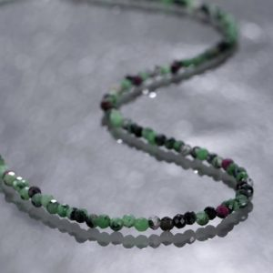Shop Ruby Zoisite Necklaces! Ruby zoisite Necklace – zoisite necklace 925 Silver necklace beaded necklace Ruby Stone Necklace Ruby Zoisite Birthday Gift Necklace . | Natural genuine Ruby Zoisite necklaces. Buy crystal jewelry, handmade handcrafted artisan jewelry for women.  Unique handmade gift ideas. #jewelry #beadednecklaces #beadedjewelry #gift #shopping #handmadejewelry #fashion #style #product #necklaces #affiliate #ad