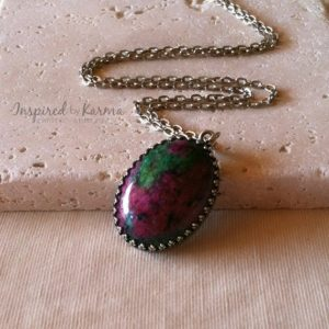 Shop Ruby Zoisite Necklaces! Ruby Zoisite Necklace,Ruby Zoisite Pendant Necklace,Chakra Necklace,Gemstone Jewelry,Healing Necklace, Ruby Zoisite Jewelry, Ruby Necklace | Natural genuine Ruby Zoisite necklaces. Buy crystal jewelry, handmade handcrafted artisan jewelry for women.  Unique handmade gift ideas. #jewelry #beadednecklaces #beadedjewelry #gift #shopping #handmadejewelry #fashion #style #product #necklaces #affiliate #ad