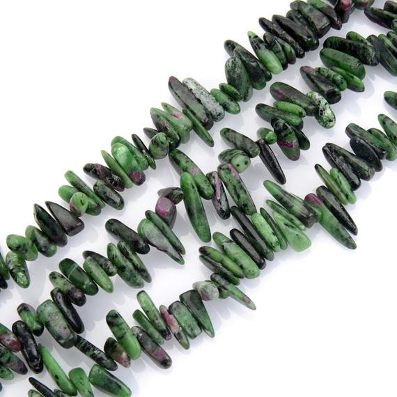 U Pick Natural Ruby Zoisite Gemstone Pendulum Teardrop Point Top Drilled 7-23mm Gems Stone Bead 15 Inch Per Strand For Jewelry Making Gz5-15
