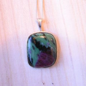 Shop Ruby Zoisite Jewelry! Ruby Zoisite pendant, ruby zoisite, sterling silver pendant, sterling silver necklace, necklace with gemstone, sterling, handmade necklace | Natural genuine Ruby Zoisite jewelry. Buy crystal jewelry, handmade handcrafted artisan jewelry for women.  Unique handmade gift ideas. #jewelry #beadedjewelry #beadedjewelry #gift #shopping #handmadejewelry #fashion #style #product #jewelry #affiliate #ad