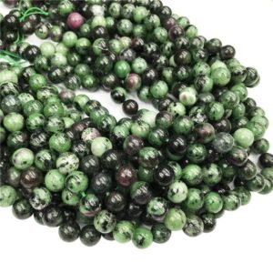 Shop Ruby Zoisite Round Beads! Ruby Zoisite Round Beads,6mm 8mm 10mm 12mm Gemstone Beads ,Approx 15.5 Inch Strand | Natural genuine round Ruby Zoisite beads for beading and jewelry making.  #jewelry #beads #beadedjewelry #diyjewelry #jewelrymaking #beadstore #beading #affiliate #ad