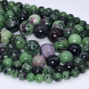 Genuine Natural Ruby Zoisite Loose Beads Grade A Round Shape 6mm 8mm 10mm 12mm | Natural genuine round Ruby Zoisite beads for beading and jewelry making.  #jewelry #beads #beadedjewelry #diyjewelry #jewelrymaking #beadstore #beading #affiliate #ad