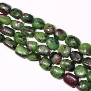 Shop Ruby Zoisite Chip & Nugget Beads! Ruby Zoisite Smooth Nuggets,Natural Big Size Tumbe Stones,Watermelon Gemstone Beads,18 inches,Size 16-18mm,Jewelry Making Beads. | Natural genuine chip Ruby Zoisite beads for beading and jewelry making.  #jewelry #beads #beadedjewelry #diyjewelry #jewelrymaking #beadstore #beading #affiliate #ad