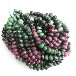 Shop Ruby Zoisite Rondelle Beads! Ruby Zoisite Smooth Rondelle Bead, Natural Ruby Zoisite Rondelle Beads, 10mm Ruby Zoisite Beads, Sold As 18 Inch/ 9 Inch, GDS1355 | Natural genuine rondelle Ruby Zoisite beads for beading and jewelry making.  #jewelry #beads #beadedjewelry #diyjewelry #jewelrymaking #beadstore #beading #affiliate #ad