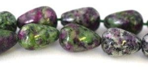 Ruby Zoisite Teardrop Gemstone Beads 1 strand 28 PCs Size 15x11mm Hole Size 1.5mm Natural, healing, chakra, birthstone for Jewelry Making | Natural genuine chip Ruby Zoisite beads for beading and jewelry making.  #jewelry #beads #beadedjewelry #diyjewelry #jewelrymaking #beadstore #beading #affiliate #ad