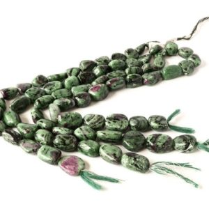 Shop Ruby Zoisite Chip & Nugget Beads! Ruby Zoisite Tumble Plain 12 to 17mm,Green,Red color, AAA Quality 8 inch full ,Powerful healing.  100% natural, | Natural genuine chip Ruby Zoisite beads for beading and jewelry making.  #jewelry #beads #beadedjewelry #diyjewelry #jewelrymaking #beadstore #beading #affiliate #ad