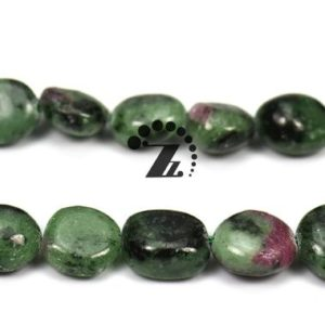 "Shop Ruby Zoisite Chip & Nugget Beads! ruby zoisite,15"" full strand natural ruby zoisite Beads,pebble chips beads,ruby Stone,epidote stone,green and red stone ,8-10mm 