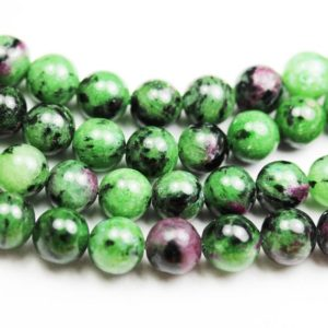 "Shop Ruby Zoisite Round Beads! Ruby Zoisite,6mm Round Natural Gemstone , One full strand, about 65 beads,16""-GEM1103 