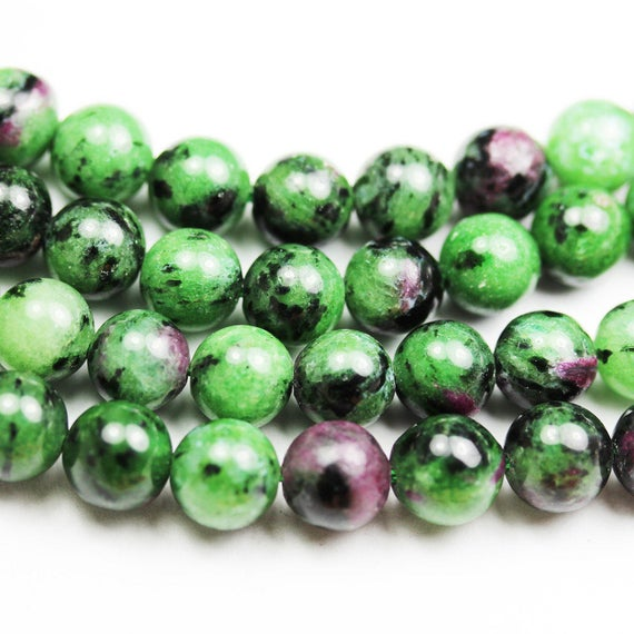 """Ruby Zoisite,6mm Round Natural Gemstone , One Full Strand, About 65 Beads,16""""-gem1103"""