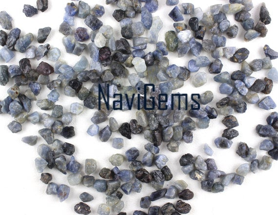 Good Quality 50 Pieces Blue Sapphire , Natural Sapphire Rough Gemstone, Making Jewelry, 6-8 Mm Approx, Sapphire, Loose Gemstone, Wholesale Price